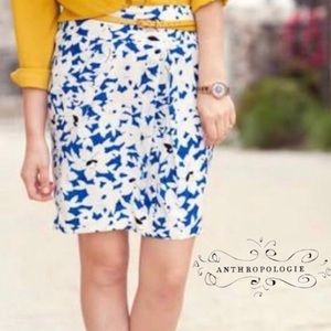 Anthropologie by Odille Silk Skirt Size 6